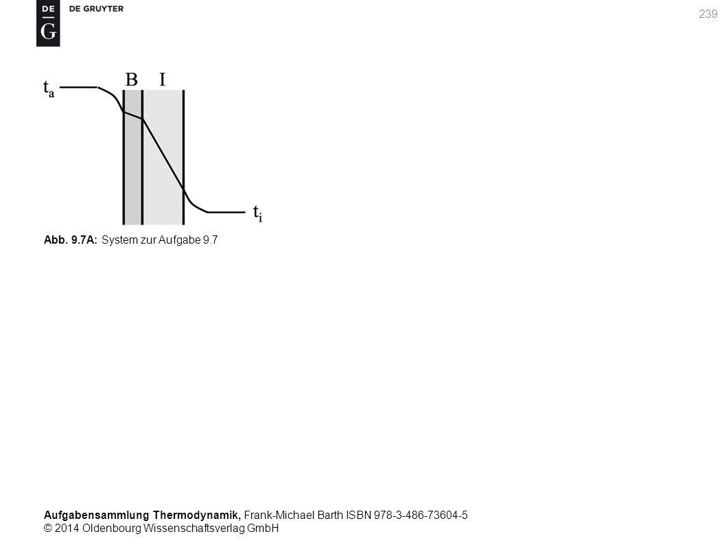 Aufgabensammlung Thermodynamik, Frank-Michael Barth ISBN 978-3-486-73604-5 © 2014 Oldenbourg Wissenschaftsverlag GmbH 239 Abb.