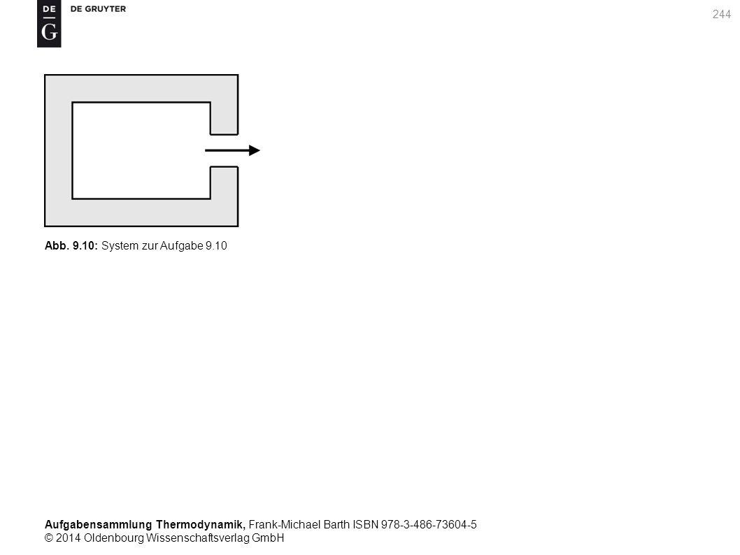 Aufgabensammlung Thermodynamik, Frank-Michael Barth ISBN 978-3-486-73604-5 © 2014 Oldenbourg Wissenschaftsverlag GmbH 244 Abb.