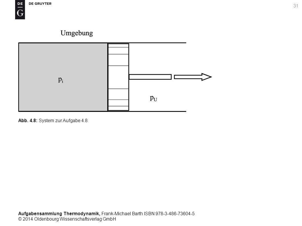 Aufgabensammlung Thermodynamik, Frank-Michael Barth ISBN 978-3-486-73604-5 © 2014 Oldenbourg Wissenschaftsverlag GmbH 31 Abb.