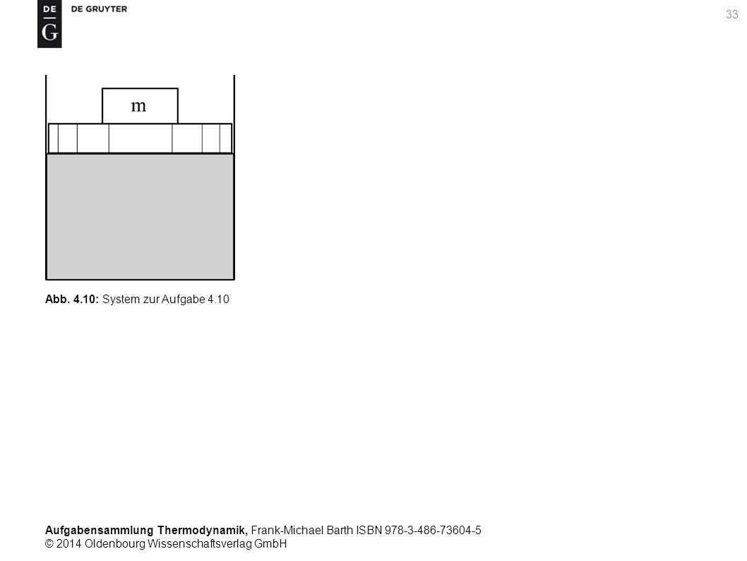 Aufgabensammlung Thermodynamik, Frank-Michael Barth ISBN 978-3-486-73604-5 © 2014 Oldenbourg Wissenschaftsverlag GmbH Abb.