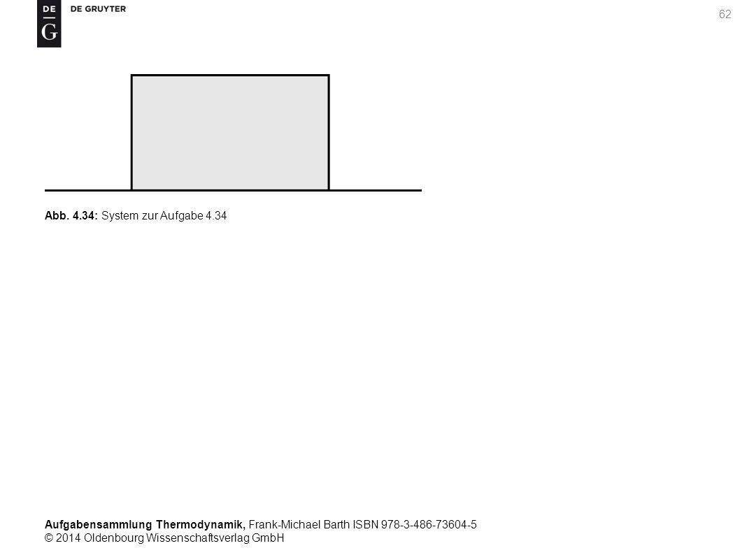 Aufgabensammlung Thermodynamik, Frank-Michael Barth ISBN 978-3-486-73604-5 © 2014 Oldenbourg Wissenschaftsverlag GmbH 62 Abb.