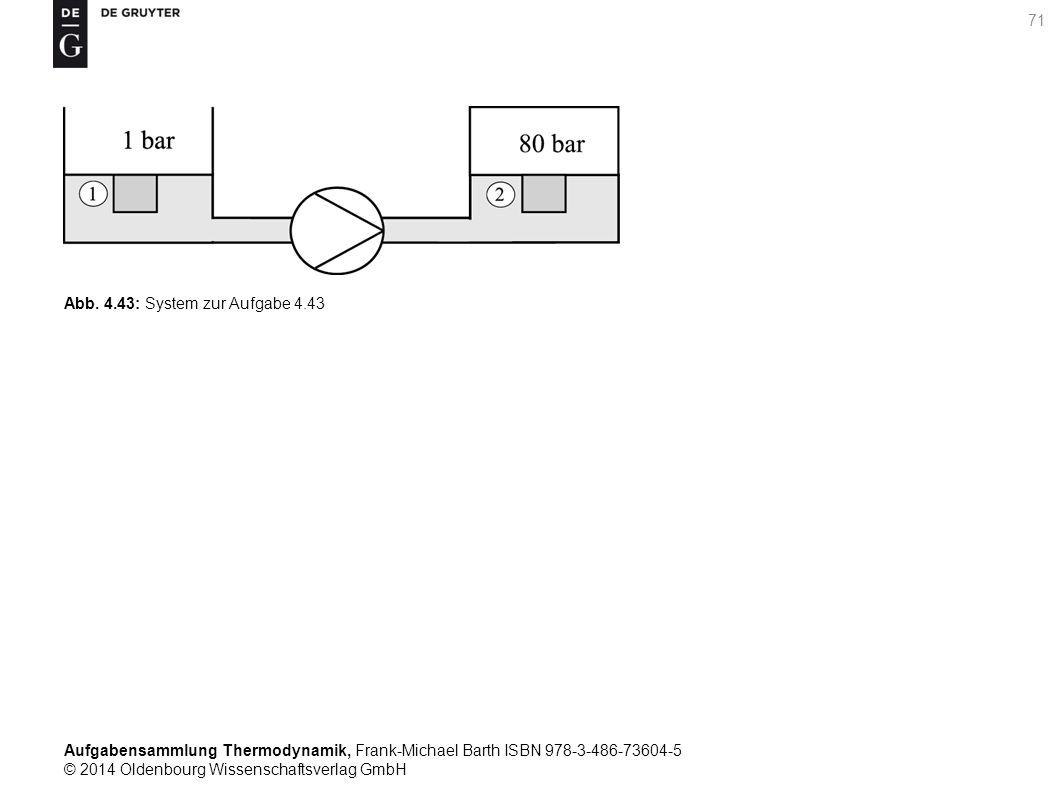 Aufgabensammlung Thermodynamik, Frank-Michael Barth ISBN 978-3-486-73604-5 © 2014 Oldenbourg Wissenschaftsverlag GmbH 71 Abb.