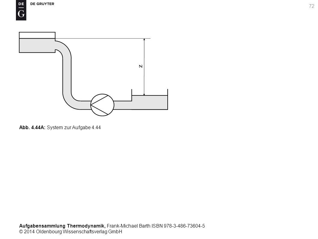 Aufgabensammlung Thermodynamik, Frank-Michael Barth ISBN 978-3-486-73604-5 © 2014 Oldenbourg Wissenschaftsverlag GmbH 72 Abb.