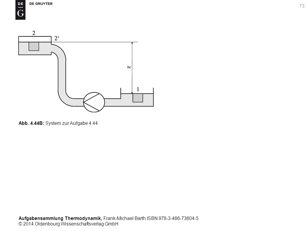 Aufgabensammlung Thermodynamik, Frank-Michael Barth ISBN 978-3-486-73604-5 © 2014 Oldenbourg Wissenschaftsverlag GmbH 73 Abb.
