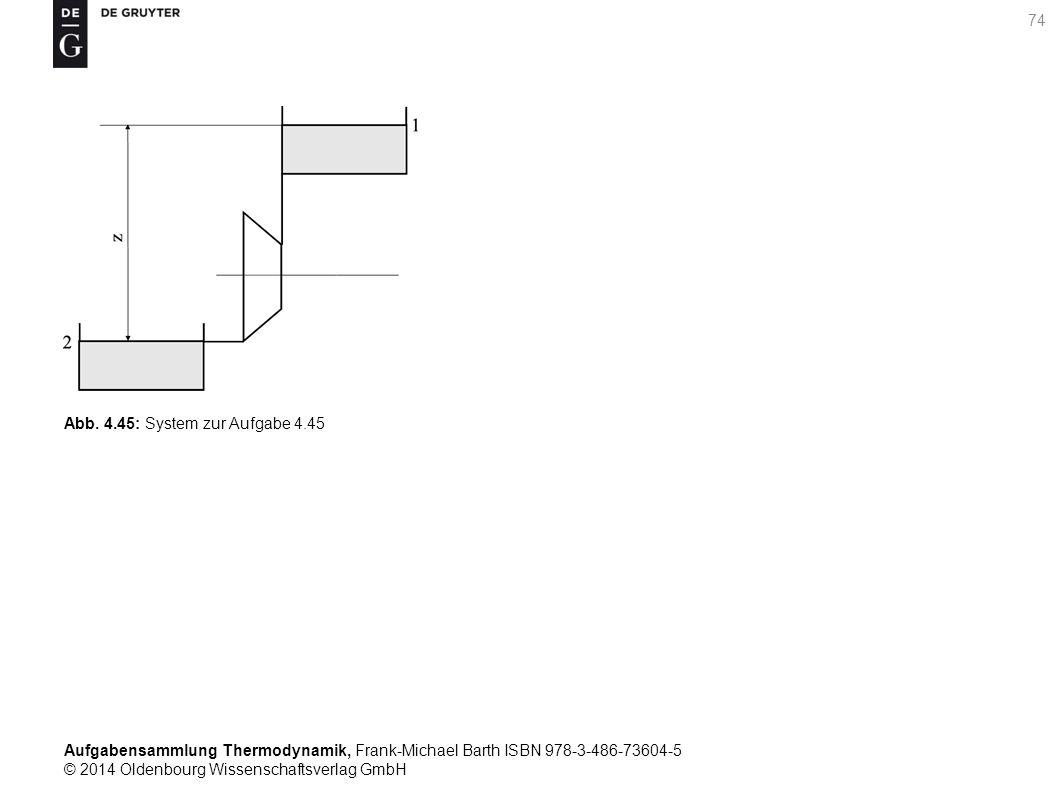 Aufgabensammlung Thermodynamik, Frank-Michael Barth ISBN 978-3-486-73604-5 © 2014 Oldenbourg Wissenschaftsverlag GmbH 74 Abb.