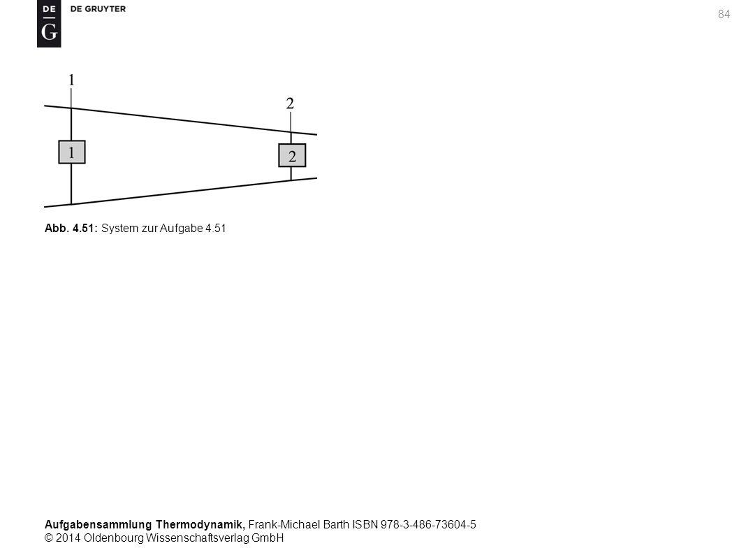 Aufgabensammlung Thermodynamik, Frank-Michael Barth ISBN 978-3-486-73604-5 © 2014 Oldenbourg Wissenschaftsverlag GmbH 84 Abb.