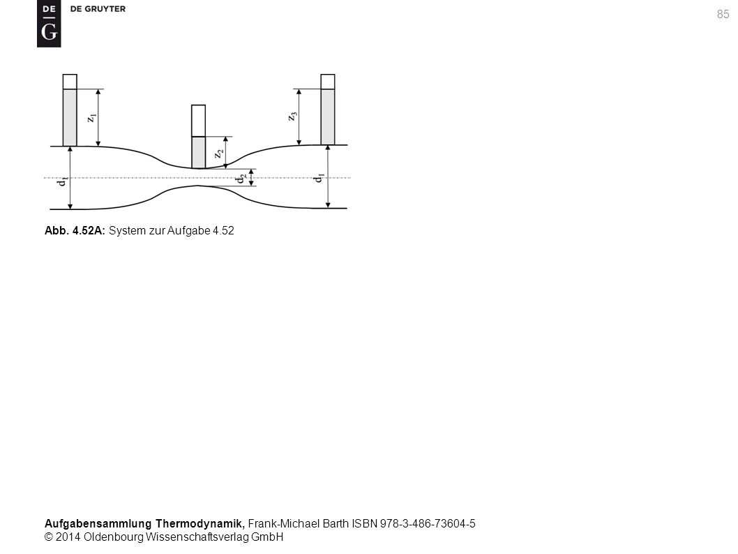 Aufgabensammlung Thermodynamik, Frank-Michael Barth ISBN 978-3-486-73604-5 © 2014 Oldenbourg Wissenschaftsverlag GmbH 85 Abb.