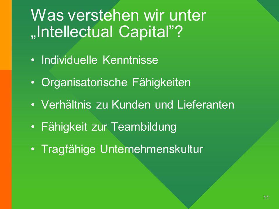 11 Was verstehen wir unterIntellectual Capital.