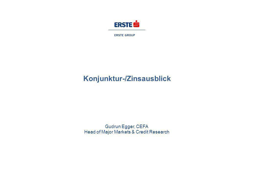 Konjunktur-/Zinsausblick Gudrun Egger, CEFA Head of Major Markets & Credit Research