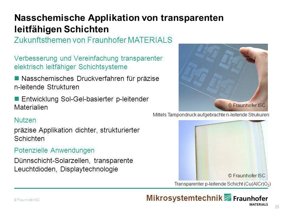 25 Nasschemische Applikation von transparenten leitfähigen Schichten Verbesserung und Vereinfachung transparenter elektrisch leitfähiger Schichtsystem