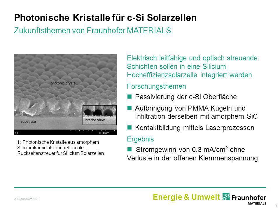 3 Photonische Kristalle für c-Si Solarzellen 1: Photonische Kristalle aus amorphem Siliciumkarbid als hocheffiziente Rückseitenstreuer für Silicium So