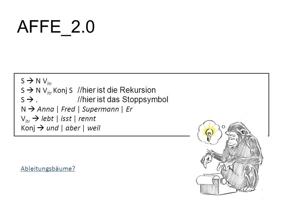 AFFE_2.0 S N V itr S N V itr Konj S //hier ist die Rekursion S.