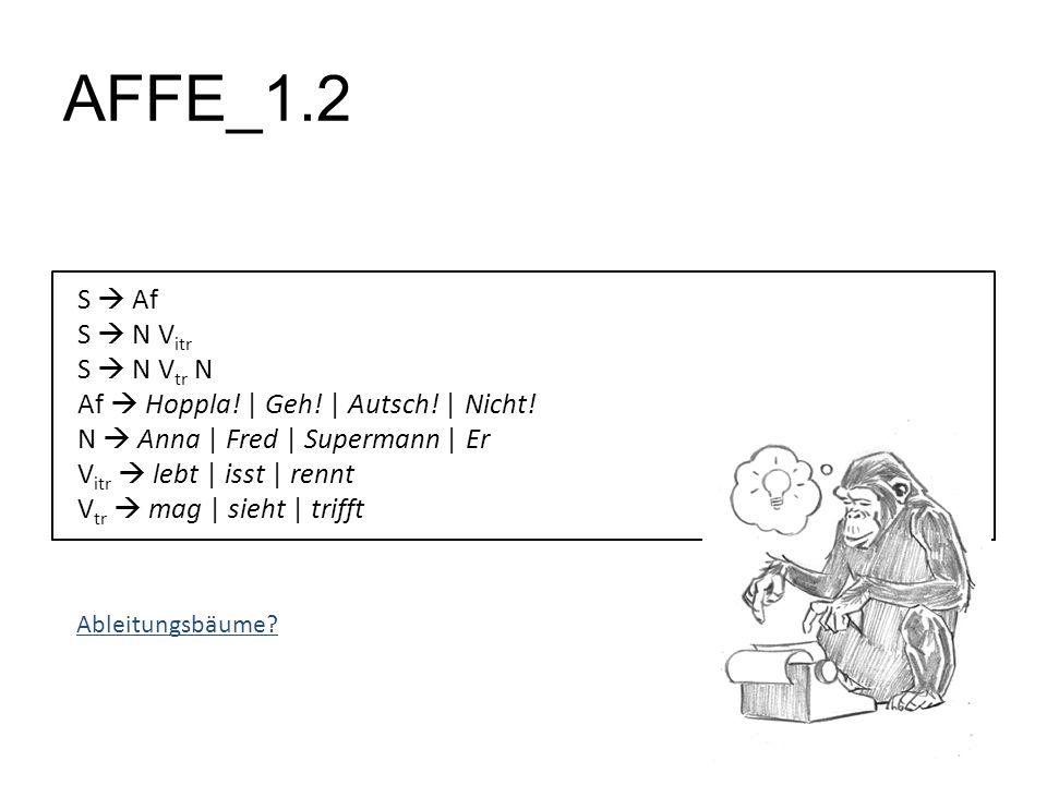 AFFE_1.2 S Af S N V itr S N V tr N Af Hoppla! | Geh! | Autsch! | Nicht! N Anna | Fred | Supermann | Er V itr lebt | isst | rennt V tr mag | sieht | tr