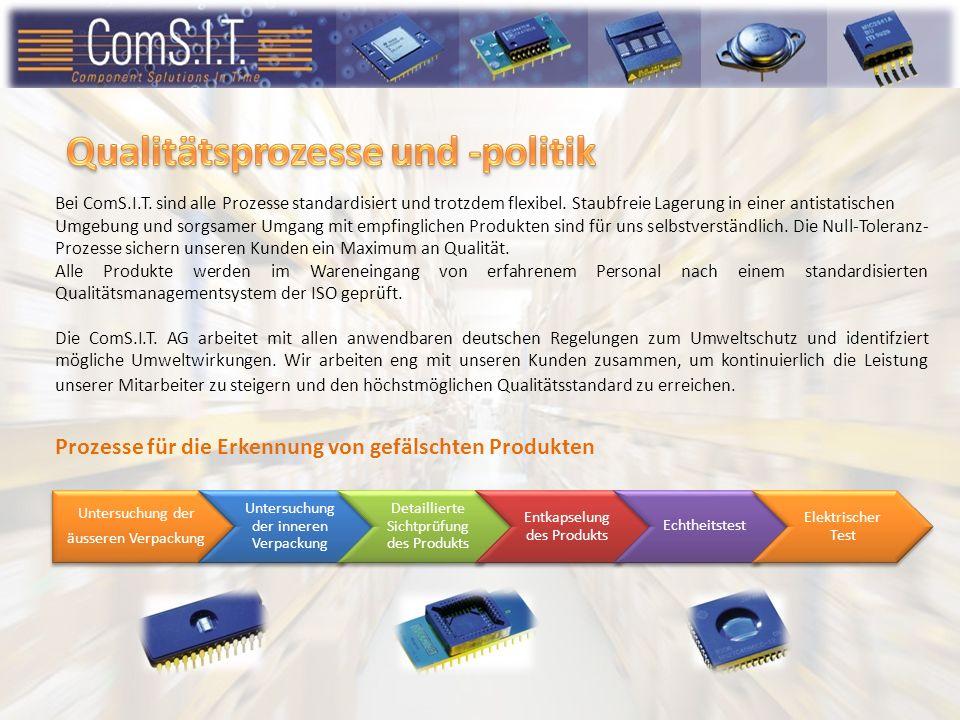 ComS.I.T.Distribution GmbH Bei ComS.I.T. sind alle Prozesse standardisiert und trotzdem flexibel.