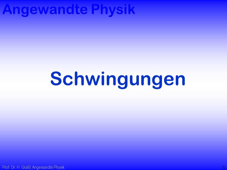 Prof. Dr. H. Graßl, Angewandte Physik 26 Resonanzbreite