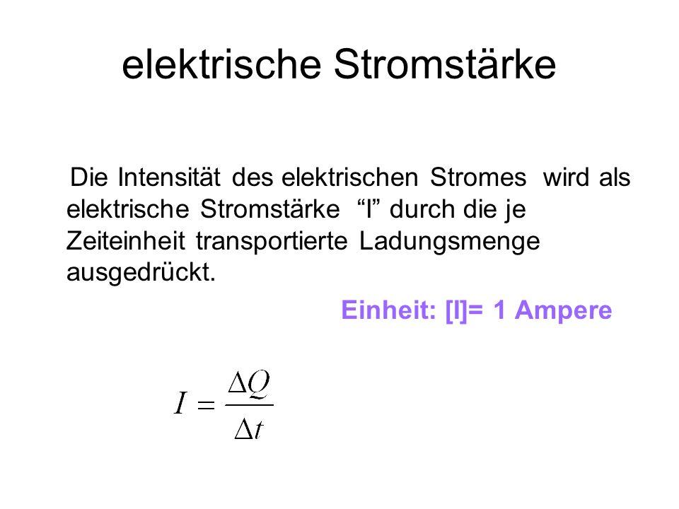 Stromdichte Bezogen auf die Fläche, durch die der Strom hindurchtritt, ergibt sich die Stromdichte j, ein Vektor vom Betrag Einheit: [j]=1 A/m 2 Zeitlich konstante Ströme heissen Gleichströme
