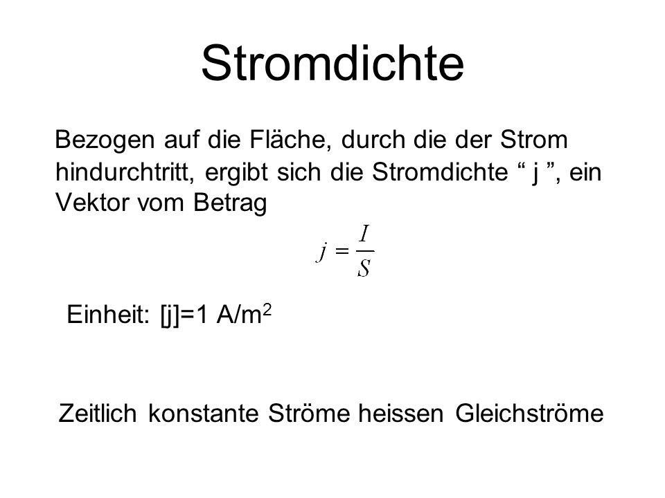 Widerstand Jeder Leiter setzt dem elektrischen Strom I einen Widerstand R entgegen.