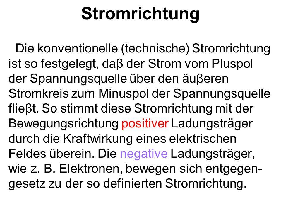 Ohmsces Gesetz Für den Zusammenhang zwischen Strom, Spannung und Widerstand gilt: Bei gleichbleibendem Widerstand R ist die Stromstärke I der am Widerstand anliegenden Spannung U proportional.