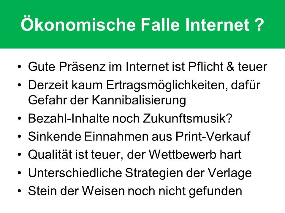 Ökonomische Falle Internet .