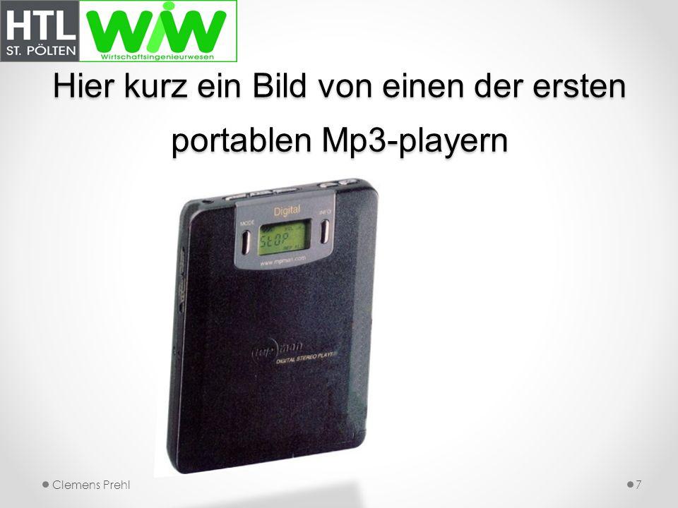 Hier kurz ein Bild von einen der ersten portablen Mp3-playern Clemens Prehl7