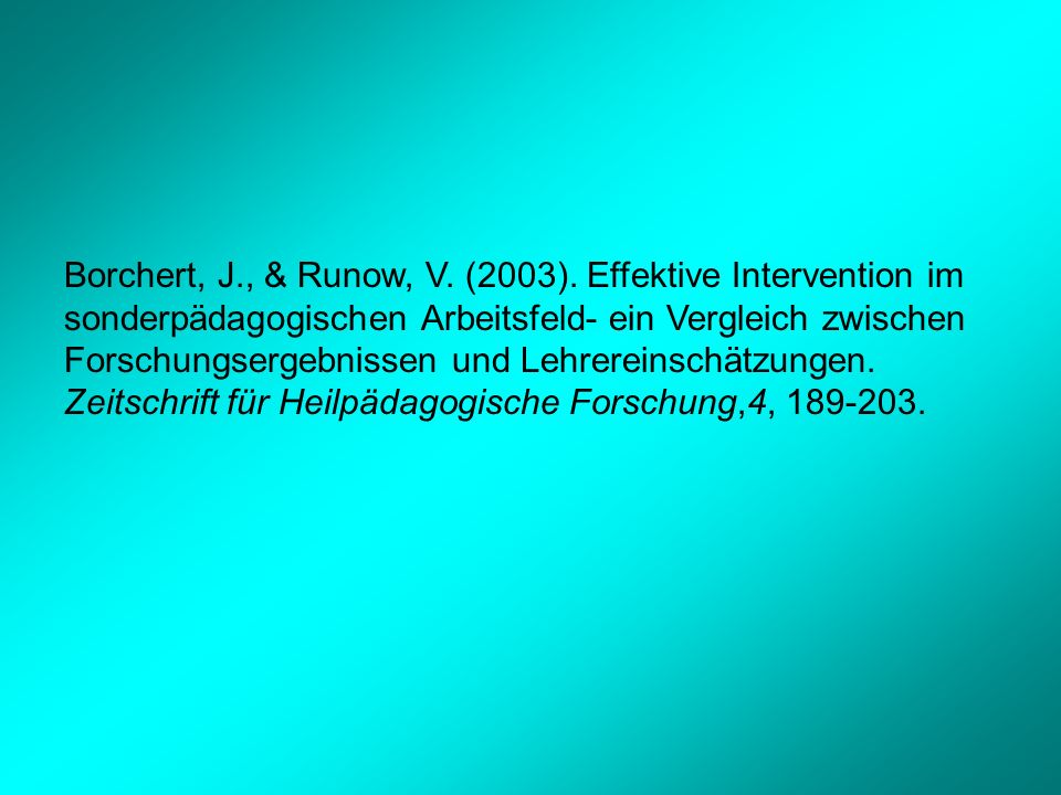 Borchert, J., & Runow, V.(2003).
