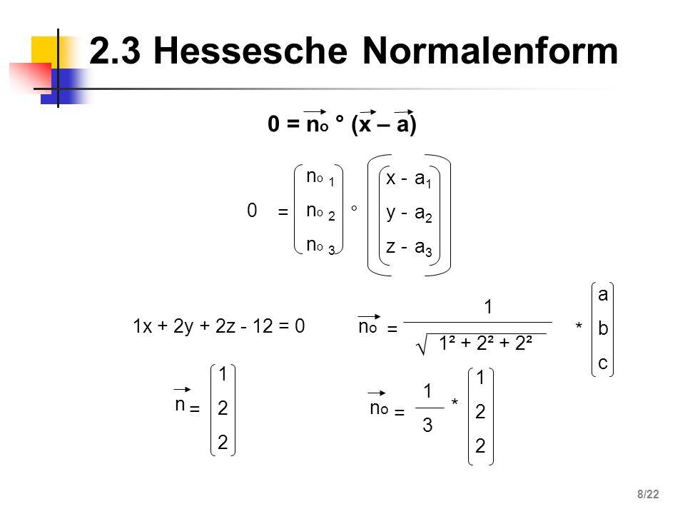 3 = 6 = 2 es gibt einen Schnittpunkt Gerade schneidet Ebene -3 1 4 124124 1 -2 -4 003 3 6 4.2 Gerade - Ebene 19/22