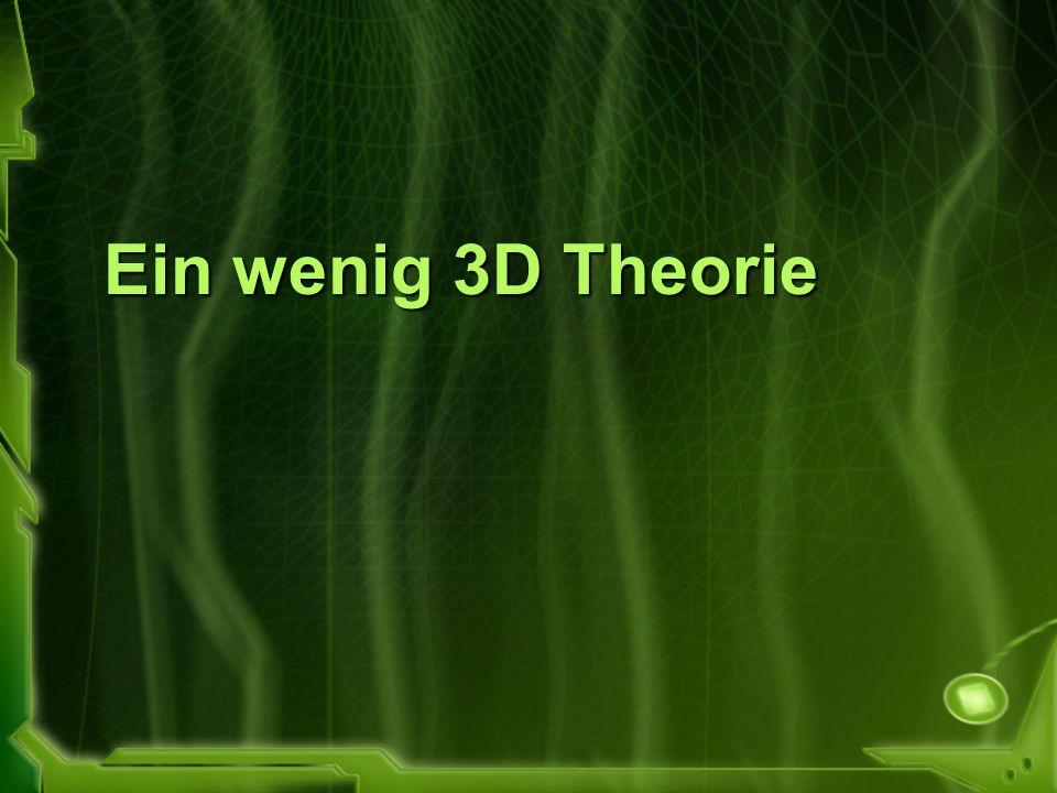 Ein wenig 3D Theorie