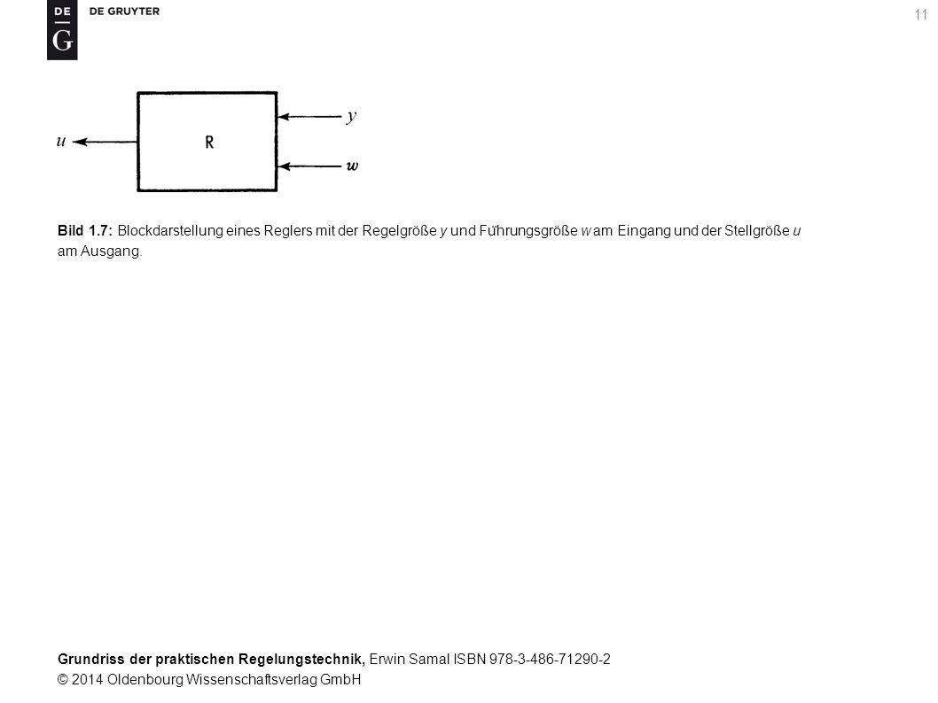 Grundriss der praktischen Regelungstechnik, Erwin Samal ISBN 978-3-486-71290-2 © 2014 Oldenbourg Wissenschaftsverlag GmbH 11 Bild 1.7: Blockdarstellun