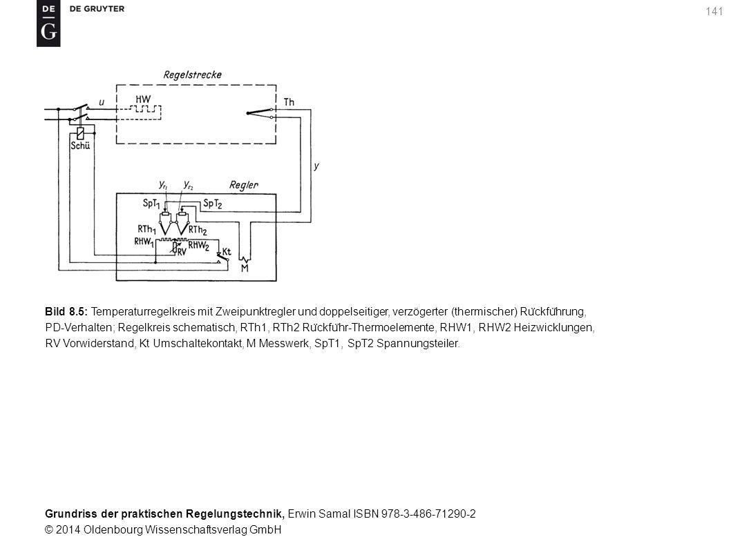 Grundriss der praktischen Regelungstechnik, Erwin Samal ISBN 978-3-486-71290-2 © 2014 Oldenbourg Wissenschaftsverlag GmbH 141 Bild 8.5: Temperaturrege