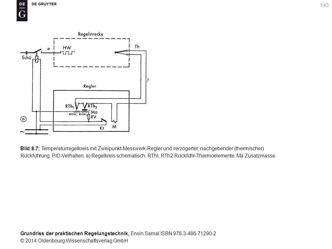 Grundriss der praktischen Regelungstechnik, Erwin Samal ISBN 978-3-486-71290-2 © 2014 Oldenbourg Wissenschaftsverlag GmbH 143 Bild 8.7: Temperaturrege