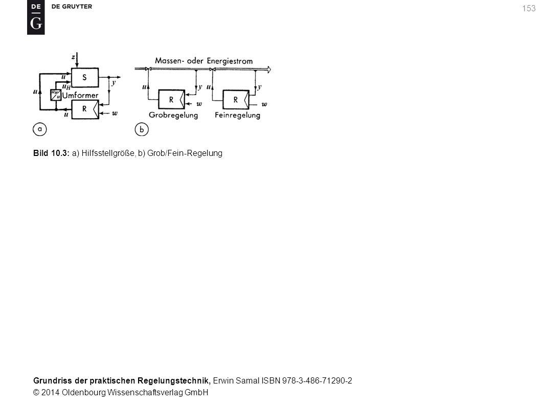 Grundriss der praktischen Regelungstechnik, Erwin Samal ISBN 978-3-486-71290-2 © 2014 Oldenbourg Wissenschaftsverlag GmbH 153 Bild 10.3: a) Hilfsstell