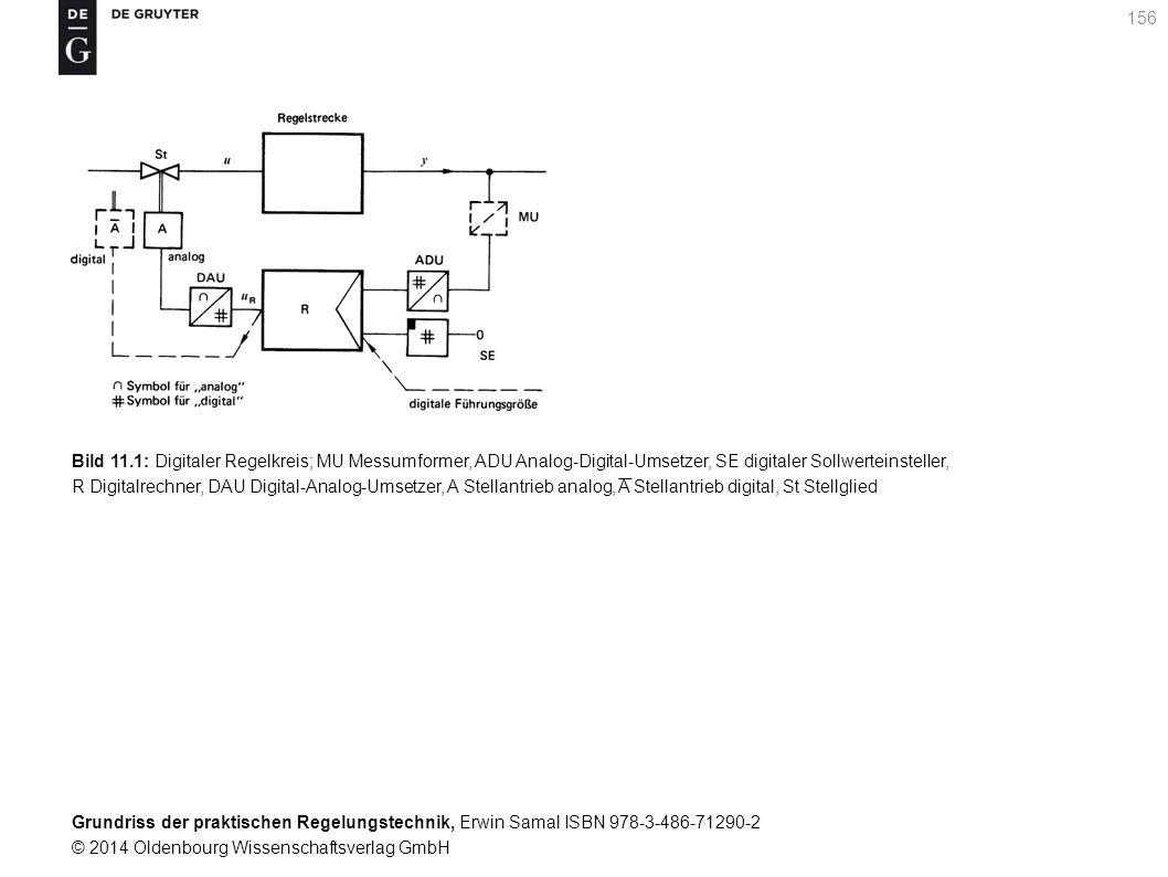 Grundriss der praktischen Regelungstechnik, Erwin Samal ISBN 978-3-486-71290-2 © 2014 Oldenbourg Wissenschaftsverlag GmbH 156 Bild 11.1: Digitaler Reg