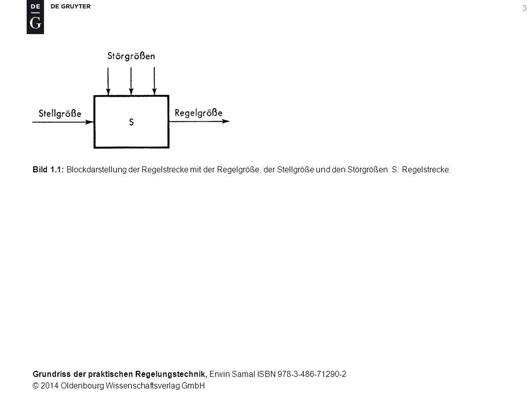Grundriss der praktischen Regelungstechnik, Erwin Samal ISBN 978-3-486-71290-2 © 2014 Oldenbourg Wissenschaftsverlag GmbH 14 Bild 1.10: Blockdarstellung des Regelkreises mit Geräteteilen.