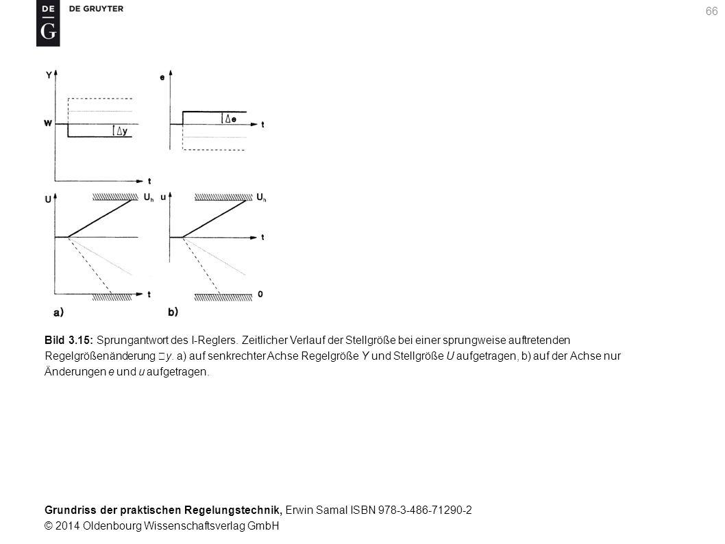 Grundriss der praktischen Regelungstechnik, Erwin Samal ISBN 978-3-486-71290-2 © 2014 Oldenbourg Wissenschaftsverlag GmbH 66 Bild 3.15: Sprungantwort