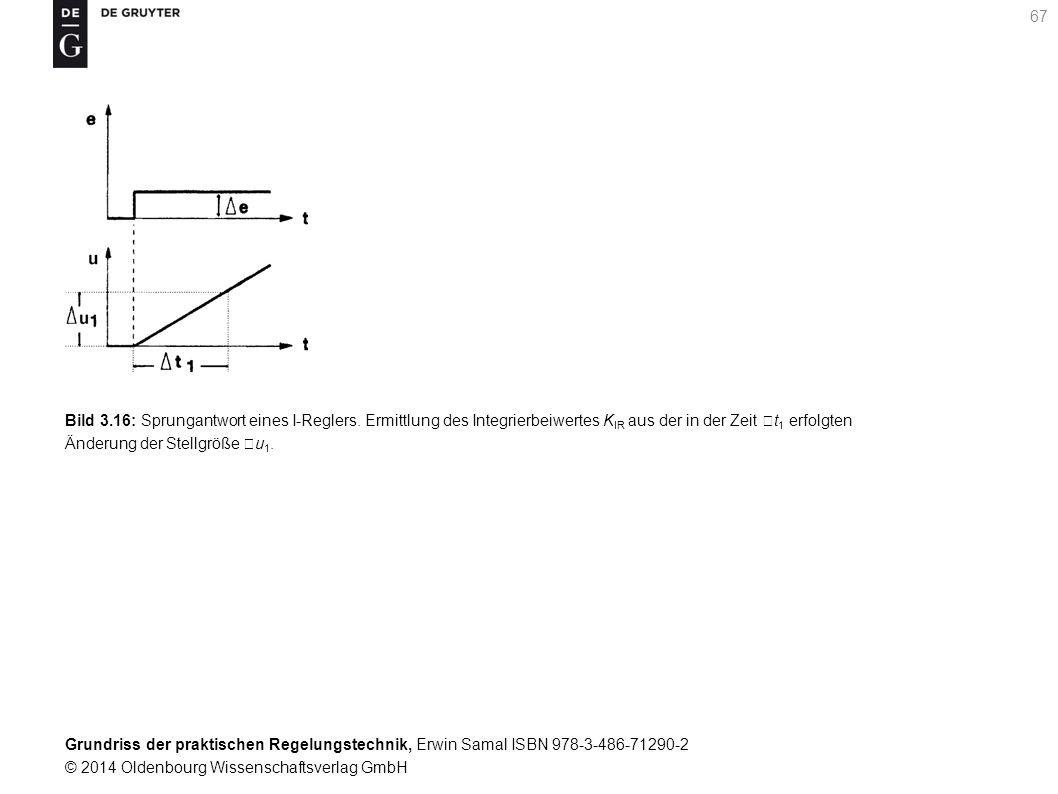 Grundriss der praktischen Regelungstechnik, Erwin Samal ISBN 978-3-486-71290-2 © 2014 Oldenbourg Wissenschaftsverlag GmbH 67 Bild 3.16: Sprungantwort