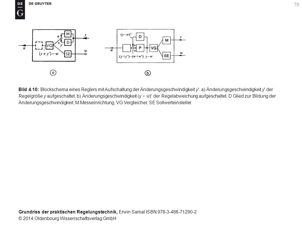 Grundriss der praktischen Regelungstechnik, Erwin Samal ISBN 978-3-486-71290-2 © 2014 Oldenbourg Wissenschaftsverlag GmbH 78 Bild 4.10: Blockschema ei