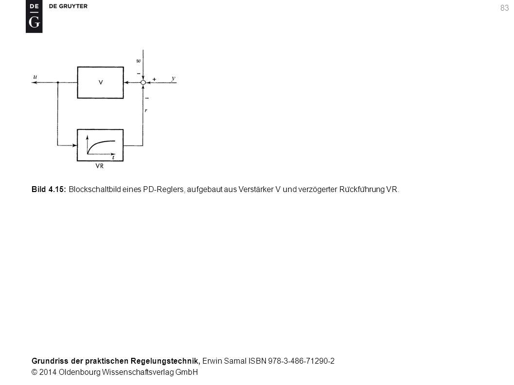 Grundriss der praktischen Regelungstechnik, Erwin Samal ISBN 978-3-486-71290-2 © 2014 Oldenbourg Wissenschaftsverlag GmbH 83 Bild 4.15: Blockschaltbil