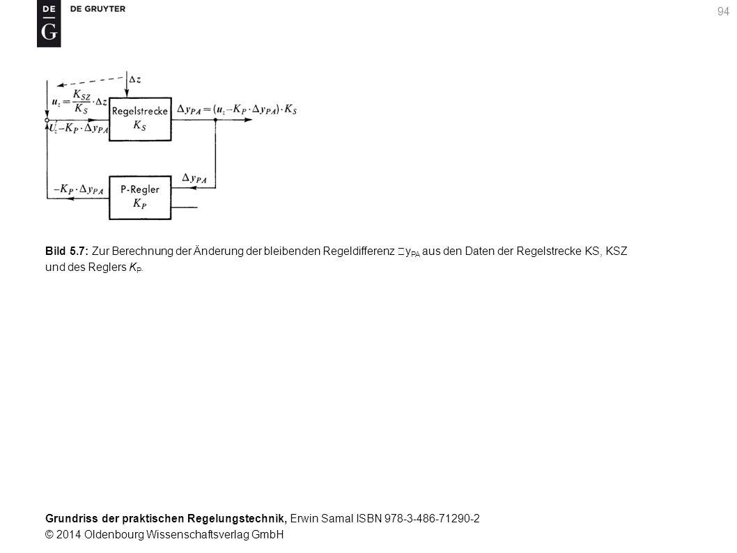 Grundriss der praktischen Regelungstechnik, Erwin Samal ISBN 978-3-486-71290-2 © 2014 Oldenbourg Wissenschaftsverlag GmbH 94 Bild 5.7: Zur Berechnung
