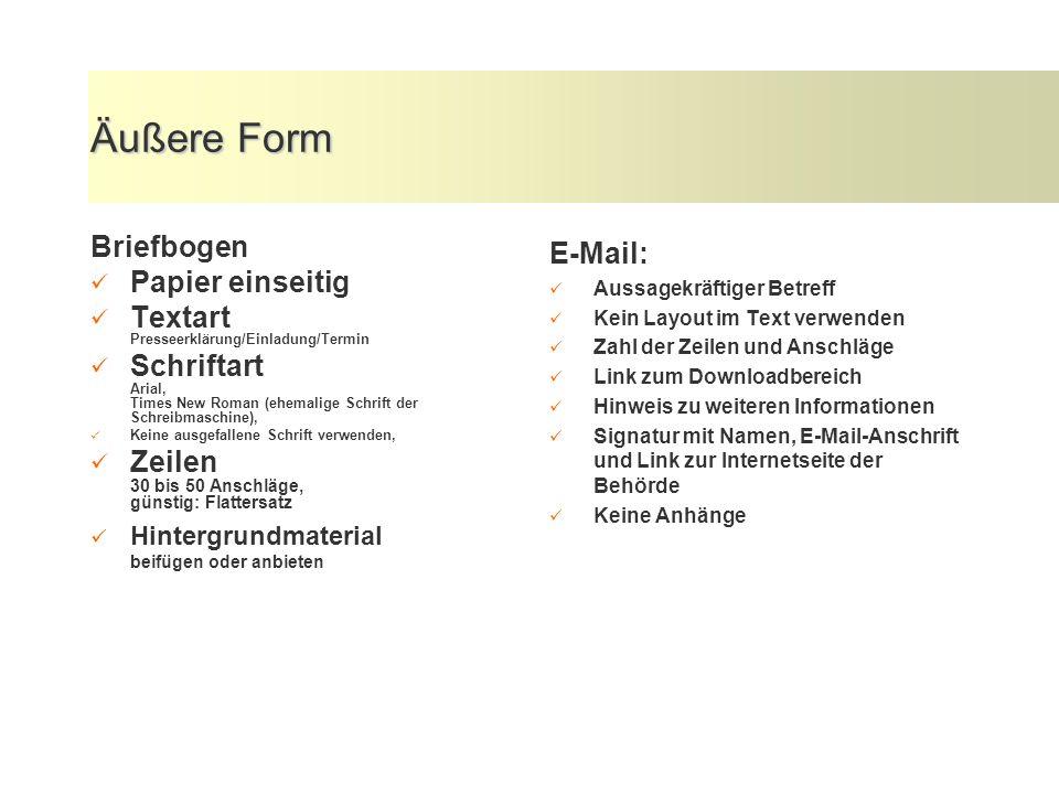 Aufbau - Pyramidenform 1. Hauptthema, Zentrale Aussage; Informationskern; Höhepunkt 2. Quellenangabe 3. Informationen, die die zentrale Aussage erläut