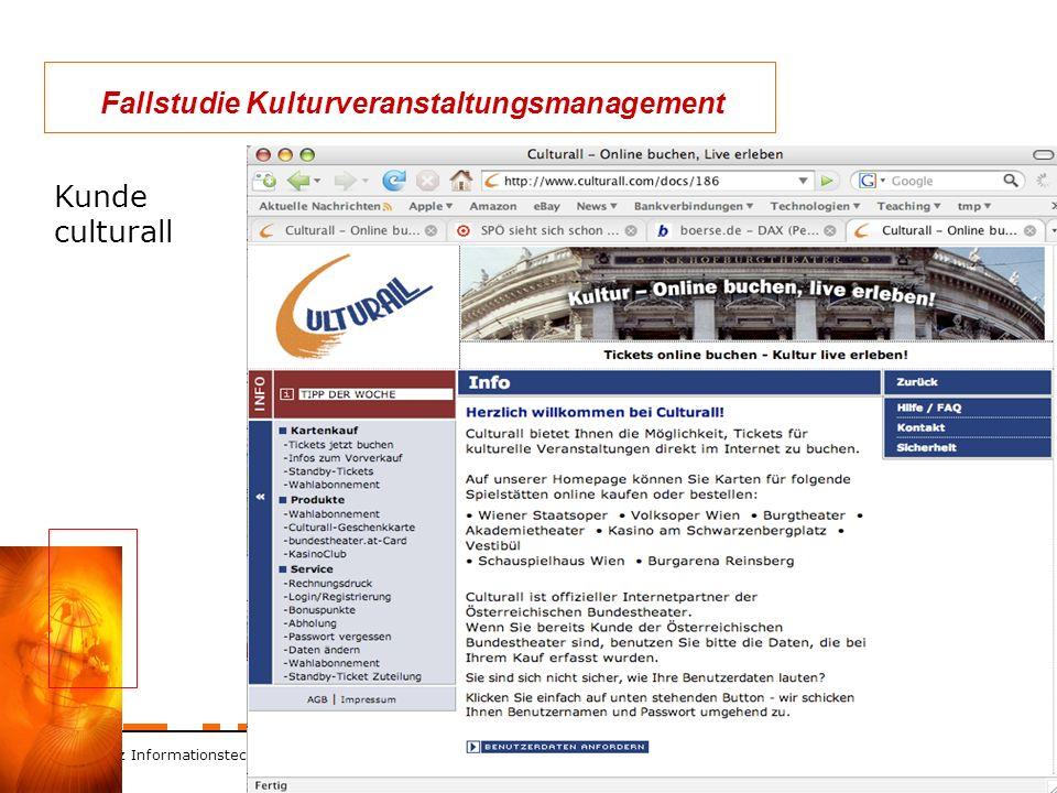 ZT Schranz Informationstechnologie KEG 38 Fallstudie Kulturveranstaltungsmanagement Kunde culturall