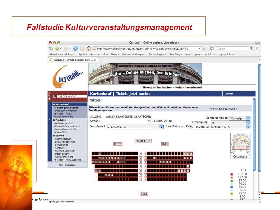 ZT Schranz Informationstechnologie KEG 40 Fallstudie Kulturveranstaltungsmanagement