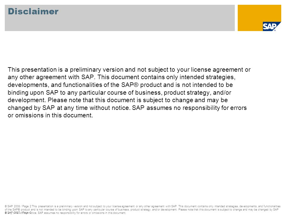 © SAP 2007 / Page 3 1.What are Compatible Units.