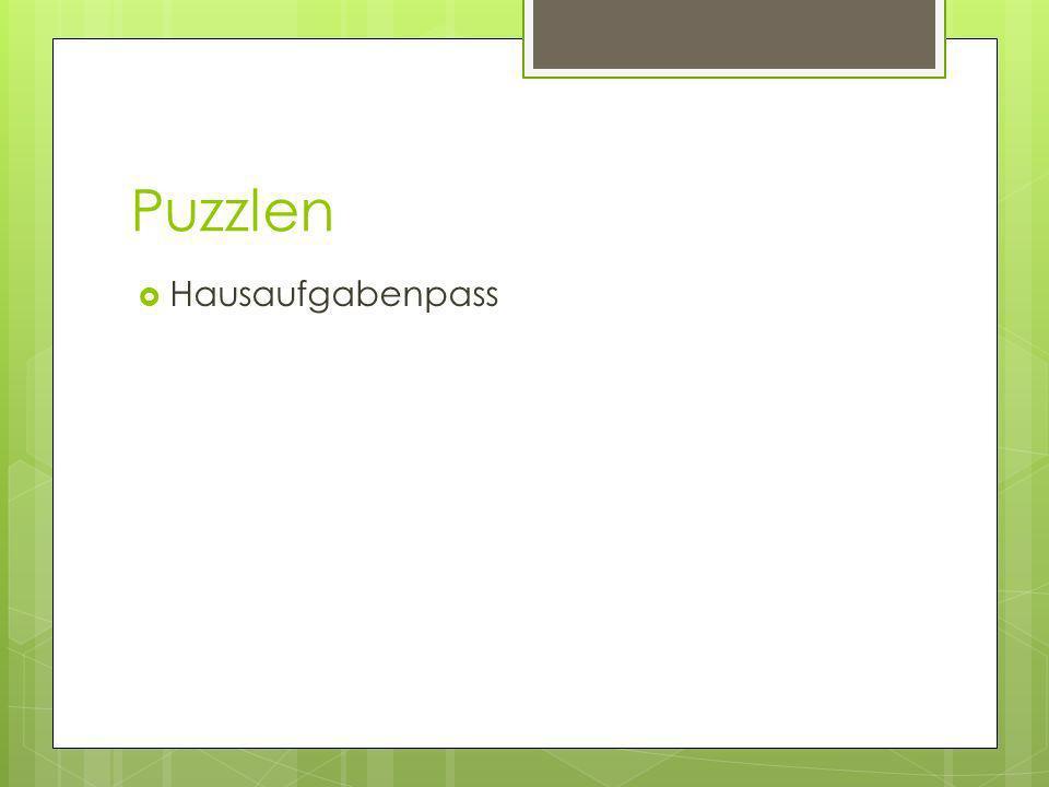 Puzzlen Hausaufgabenpass