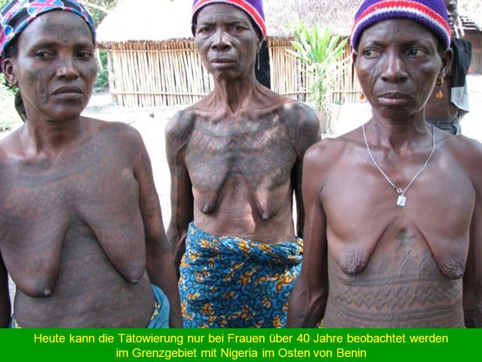 Mujer escarificada en la región yoruba de Benín