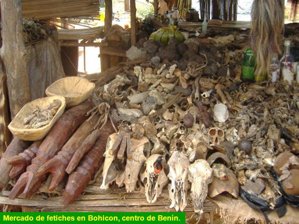 La gran mayoría de la población rural de Benín sigue los ritos animistas y los hechiceros como el de Onigboló tienen la función de guiar, proteger y c