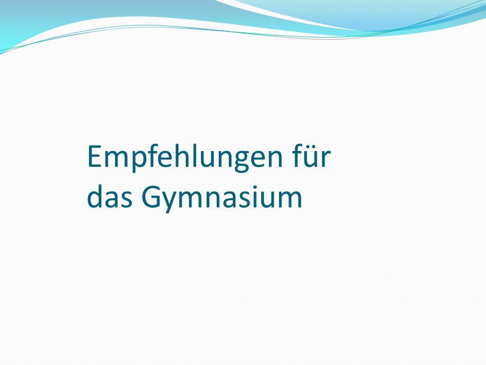 Empfehlungen für das Gymnasium
