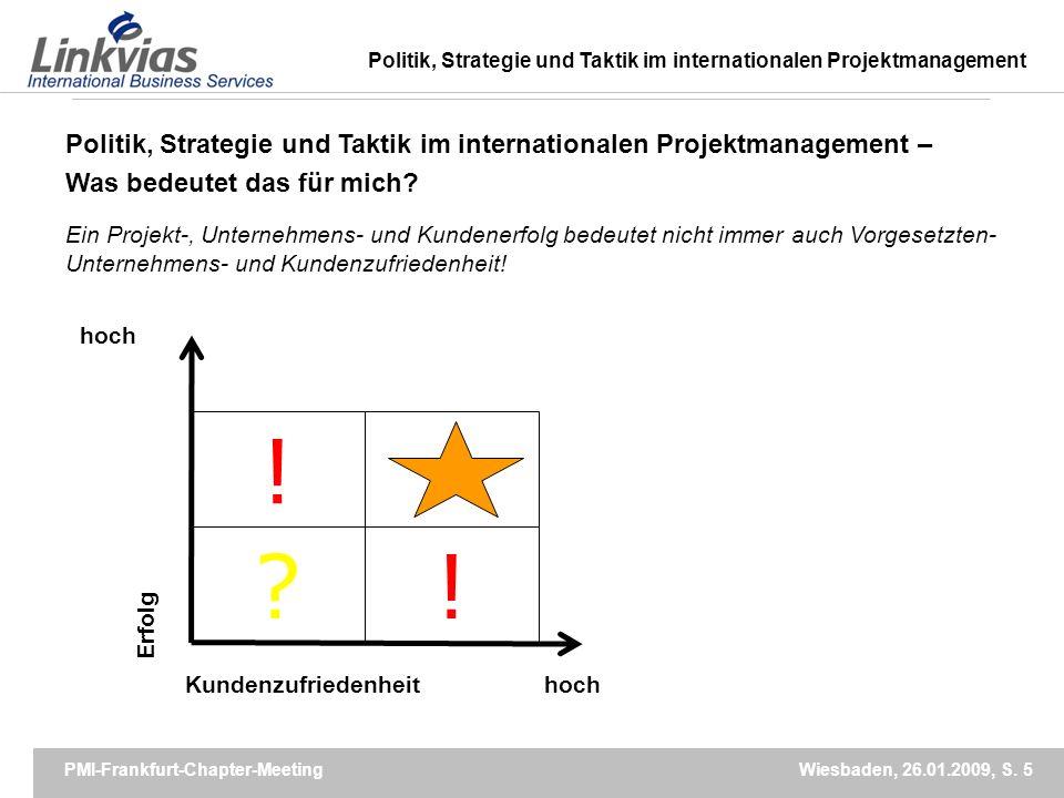 PMI-Frankfurt-Chapter-Meeting Wiesbaden, 26.01.2009, S.