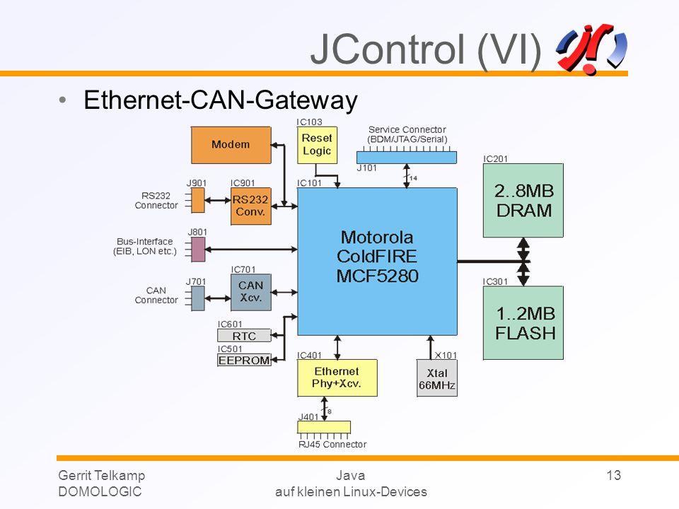 Gerrit Telkamp DOMOLOGIC Java auf kleinen Linux-Devices 13 JControl (VI) Ethernet-CAN-Gateway