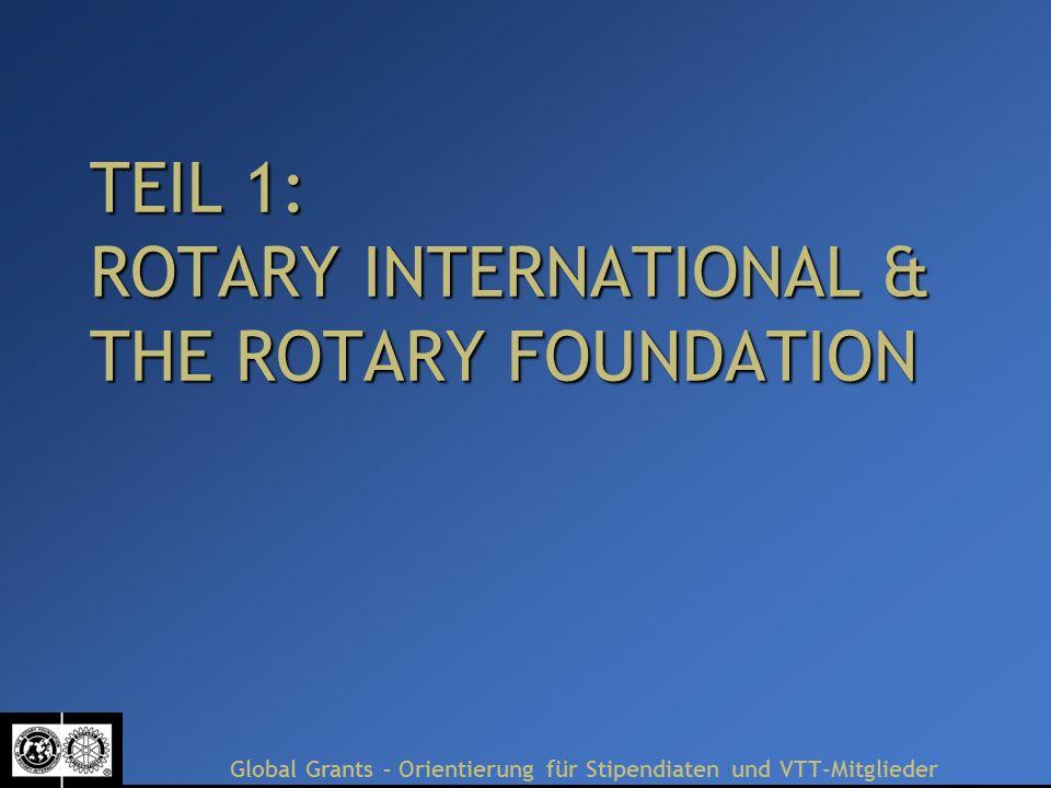 Global Grants – Orientierung für Stipendiaten und VTT-Mitglieder Ws heißt Messbarkeit.