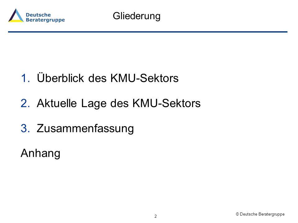 © Deutsche Beratergruppe 1. Überblick des KMU-Sektors